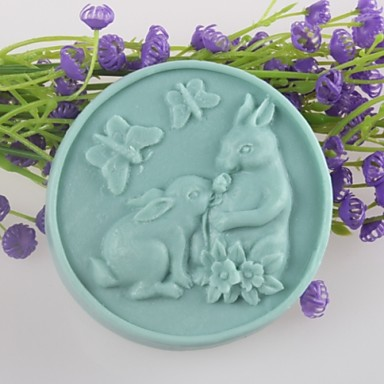 New SiliconeBaking Molds - Two Rabbits Butterfly Shaped ...