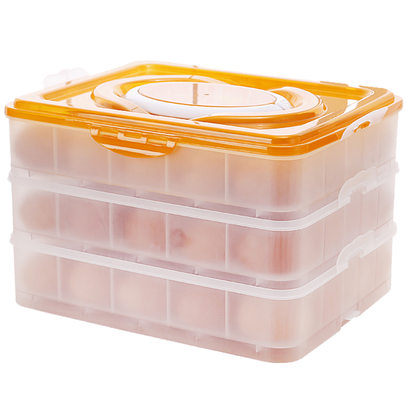 Cheap 3 Tier Egg Container Deviled Egg Carrier With Orange