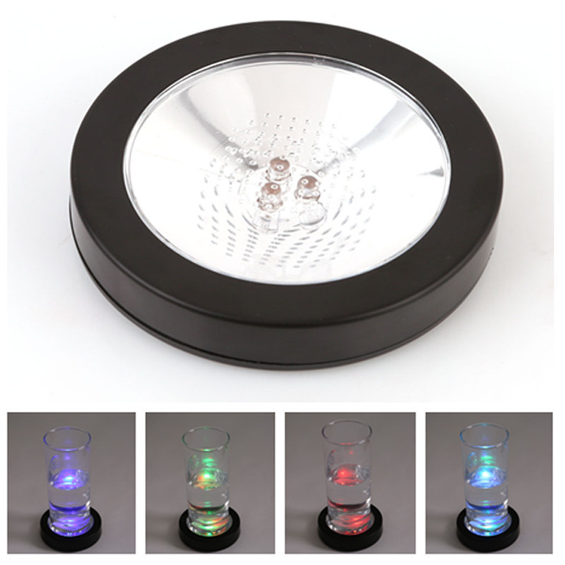 Cheap Rgb Color Changing Light Up Led Drink Coasters Mats