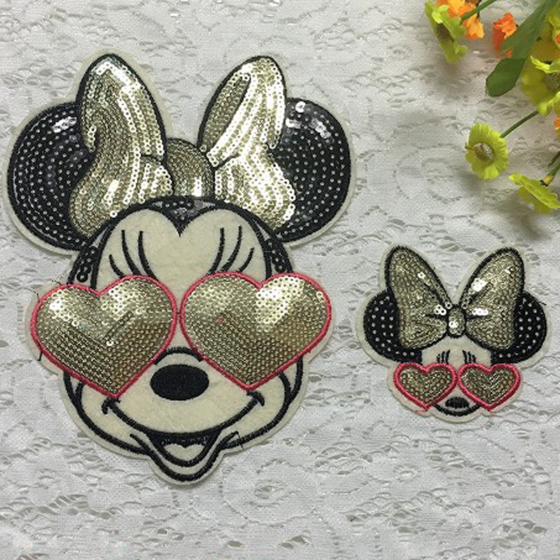 Minnie mouse Sew on patch Sequin patch