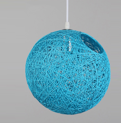 Cheap orange round woven pendant lampshadewicker rattan ceiling blue round rattan woven ceiling pendant light lampshade for decoration40cm aloadofball Image collections