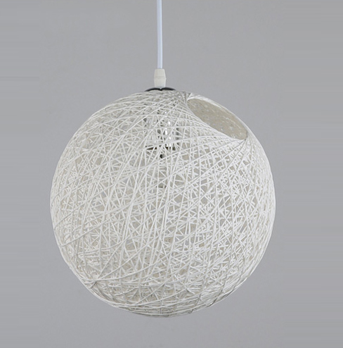 Cheap White Round Woven Pendant Lampshade|Wicker Rattan ...