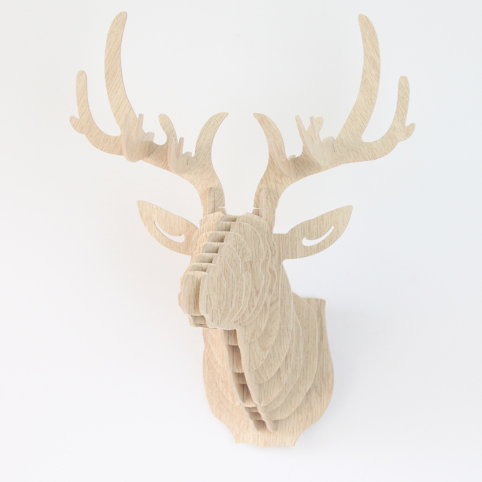 Buy Initial Wooden 3d Deer Head Antler Model Puzzle Uk On