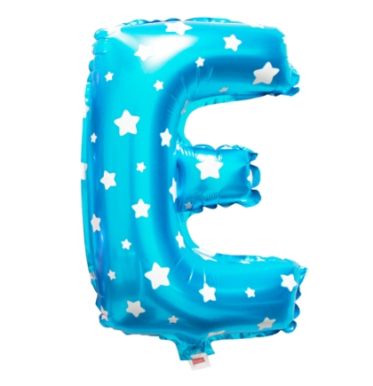 cheap blue letter e balloon with dots 16 inch foil letter With blue letter balloons