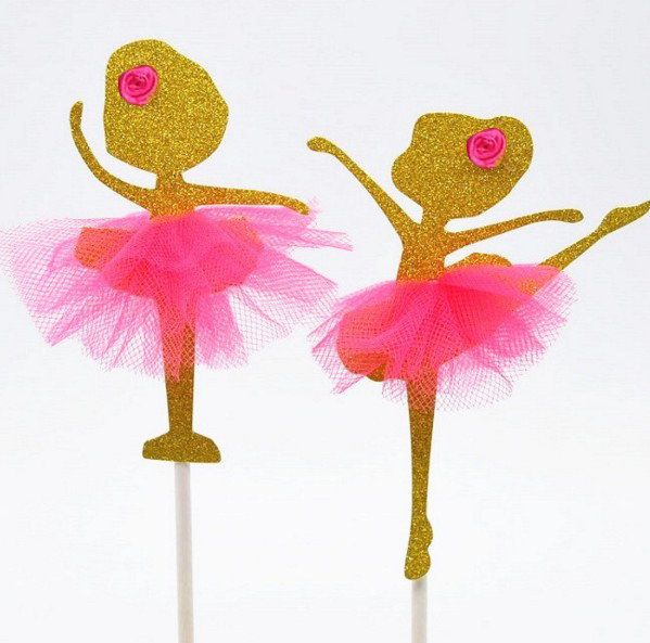 ballerina cake topper cheap 2 designs gold ballet ballerina dancer birthday 1463